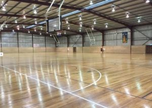 indoor sports pavilion timber